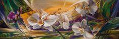 "Vie Dunn-Harr - Soaring  oil on canvas - 12""x 36"""