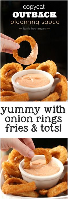 Copycat Outback Blooming Sauce Recipe - http://familyfreshmeals.com - great on fries and onion rings too! YUM!