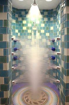 Shower at the Broadmoor Hotel's Spa, Colorado.