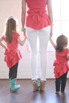 Ryleigh Rue Clothing by MVB - Mommy Peplum Coral Top, $36.00 (http://www.ryleighrueclothing.com/pre-sale/mommy-peplum-coral-top.html)