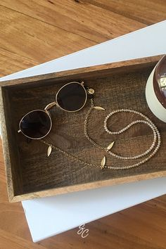 The original brand for fashionable sunglass chains and sunglasses straps. You'll fall in love with these playful handmade designs and never having to lose or break your sunnies again. Sunnies, Sunglasses Case, Demin Jacket, Braided Bracelets, Handmade Design, Knitting Designs, Eyeglasses, Jewerly, Masks