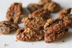 Cinnamon-Glazed Pecans and Two Cookie Recipes Holiday Recipes, Great Recipes, Favorite Recipes, Holiday Foods, Pecan Recipes, Cookie Recipes, Glazed Pecans, Fruity Drinks, Christmas Candy
