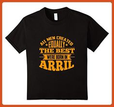 Kids Birthday T-Shirt for Men who Was Born in April 6 Black - Birthday shirts (*Partner-Link)