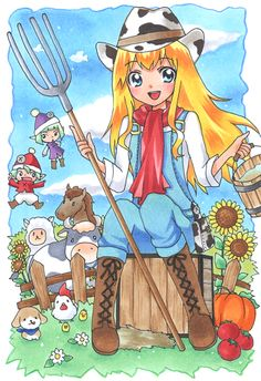 Harvest Moon cowgirl outfit. So cute!