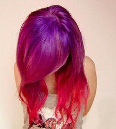 Purple to Cherry Reverse Ombre