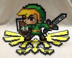 Legend of Zelda Link of Hyrule Stand Perler Bead Art