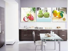 2014 New Wall Canvas Painting Dinning Room Decor Art Pictures Lovely Fruit Painting Kitchen Cupboard Decor