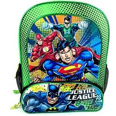 Justice League School Backpack Batman Superman NEW. Jeremy Bader · Awesome  Backpacks!! 7ff300de96f4b