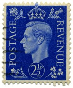 noroyumeji: This UK definitive stamp showing King George VI of the United Kingdom was first issued in 1937.