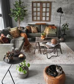 interior / plants / inspiration / grey / brown / living room / wood / hout / int… – Best Home Plants Living Room Colors, Home Living Room, Living Room Decor, Interior Design Living Room Warm, Living Room Designs, Room Interior, Grey And Brown Living Room, Style Deco, Deco Design