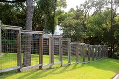 ingenuity in design: sloping yard, sloping fence