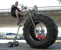 You'll Not Believe What This Guy Built! When a bike meets a tractor, you get the Monsterbike!It was created by a student and it represented his graduation work. We aren't sure about his grades, but the Guinness Book certainly appreciated his efforts. This inventionhas been recognized as the bike with the biggest weight in the world –...