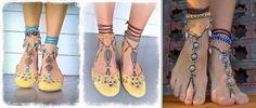 adornos para pies descalzos - Buscar con Google