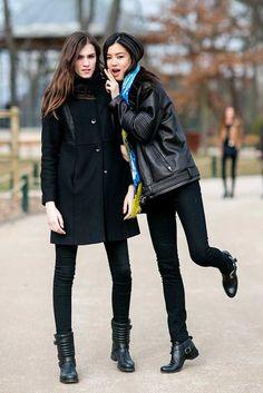 Models Off Duty: PFW A/W 2015 | Fashion, Trends, Beauty Tips & Celebrity Style Magazine | ELLE UK