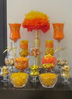 Orange and Yellow Candybar by www.Candybarcouture.com