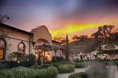 Sculpterra Winery's tasting room at sunset | Courtesy of Sculpterra Winery & Sculpture Garden