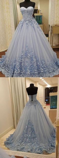 Online shopping for Straplsss Dusty Blue Long Prom Dresses Birthday Dresses Quinceanera Gowns. Classy Prom Dresses, Pretty Dresses, Beautiful Dresses, Wedding Dresses, Awesome Dresses, Elegant Dresses, Casual Dresses, Sweet Sixteen Dresses, Sweet 16 Dresses