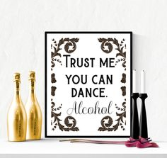 Decorative You Can Dance Wedding Sign Printable Black | https://www.vivabop.co.uk/products/decorative-you-can-dance-wedding-sign-printable-black