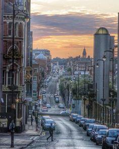 A painting of Livery Street Birmingham UK Travel Around The World, Around The Worlds, Birmingham England, Birmingham United Kingdom, Birmingham City Centre, British Travel, Kingdom Of Great Britain, England Uk, England Ireland