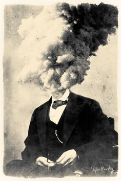 losing your head 8x12 fine art surreal collage by dylanmurphy, $25.00