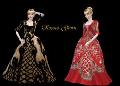 Rococo gown at Dress To Impress via Sims 4 Updates