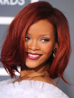 We love Rihanna's choppy lob.