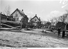 Afbraak van stadsdelen rondom en in de Willem Lodewijklaan wegens de aanleg van de 'Atlantikwall', Den Haag (1942-1944)