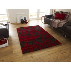 Shop for high quality rugs at great prices. Buy the Majesty 5107 Shaggy Rug - Brown, Red at a great price and get free fast delivery.