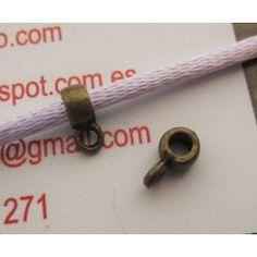 Enganche para colgante en bronce 4x2 mm. Interior de 2 mm.