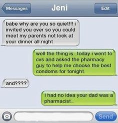 umm... weird? my dad is a pharmacist and i spell my name jeni but i swear this is not me haha