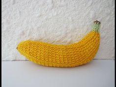 (1) Вязаный БАНАН BANANA Crochet - YouTube | ZAA crochet ; ready-made products 3 | Pinterest Crochet Fruit, Crochet Leaves, Crochet Food, Crochet Kitchen, Crochet Yarn, Crochet Flower Patterns, Crochet Motif, Free Crochet, Crochet Flowers