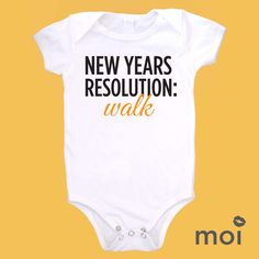 """Funny resolution inspiration """"Read"""" """"Remember when counting"""" etc Dream Baby, Baby Love, Baby New Year, Baby Olivia, Christmas Onesie, Baby Bodysuit, Baby Onesie, Baby Shirts, Baby Grows"""