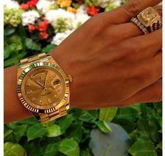 Obsessed with this watch (Leyla Milani) #gold #rolex #daydateII via instagram: leylamilani
