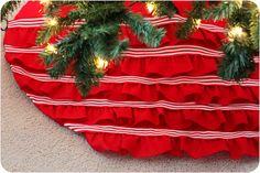 No-Sew Ruffled Tree Skirt {Michaels Holiday Dream Tree Challenge}