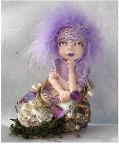 Purple Jewels Sea Nymph OOAK Fairy  http://cgi.ebay.com/ws/eBayISAPI.dll?ViewItem=160960078983
