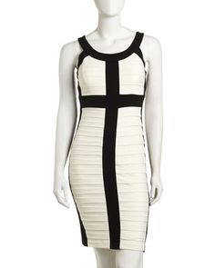 Two-Tone Dress by JAX at Last Call by Neiman Marcus.