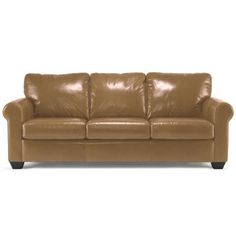 "CLOSEOUT! Possibilities Roll-Arm Leather 82"" Sofa  found at @JCPenney"