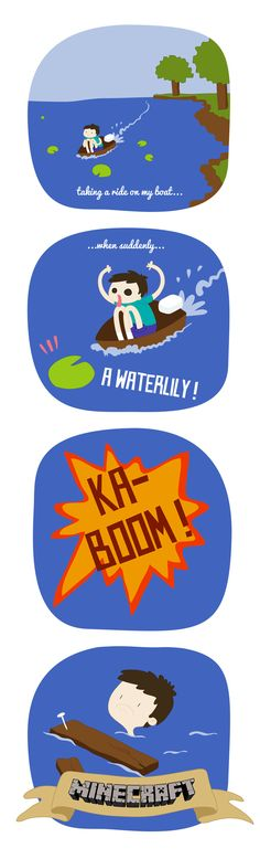 Minecraft's logic #1 : The waterlily by ~Yuminette on deviantART