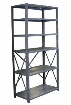 """Borroughs CO6-36246 Steel RTA Open Type 6-Shelf Back Room Storage Unit, 400 lbs Capacity, 36"""" Width x 6' Height x 24"""" Depth, Gray by Borroughs. $225.30. Borroughs commercial grade Clip-Type Shelving has many problem solving applications that are both cost effective, yet extremely durable for office storage areas, supply closets, mail rooms, utility rooms and more. Virtually any medium load storage application can be accommodated. Easily assembled. Instructions includ..."""