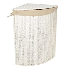 White rope corner laundry basket - Bathroom accessories - Debenhams.com