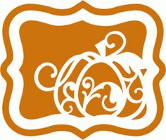 Silhouette Design Store - View Design #66056: pumpkin flourish artisan label