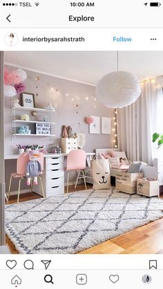 Girls Room Decor Ideas to Change The Feel of The Room Do you want to decorate a woman's room in your house? Here are 34 girls room decor ideas for you. Tags: girls room decor, cool room decor for girls, teenage girl bedroom, little girl room ideas Cool Room Decor, Bedroom Decor, Light Bedroom, Bedroom Lighting, Girls Room Wall Decor, Bedroom Furniture, Girl Decor, Master Bedroom, Diy Room Decor Tumblr