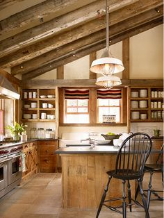 Updated barn kitchen