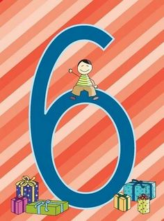 NÚMERO 6 - Jane - Picasa Webalbums Numbers Preschool, Math Numbers, Letters And Numbers, Art Birthday, Happy Birthday, Free Frames, Counting Activities, Teaching Aids, Stick Figures