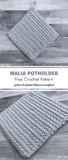 These patterns for Easy Square Crochet Potholders are hot! They will protect your skilfull hands from oven-like pots and pans like no others. Why invest in expensive kitchen equipment when you… Crochet Stitches For Blankets, Tunisian Crochet Stitches, Crochet Potholders, Crochet Stitches Patterns, Free Crochet Potholder Patterns, Unique Crochet Stitches, Crochet Sheep Free Pattern, Crochet Squares, Crochet Waffle Stitch