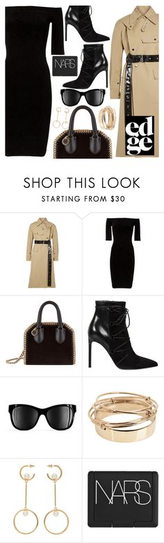 """""""Rainy days don't stop a business woman"""" by floralandmay ❤ liked on Polyvore featuring Helmut Lang, STELLA McCARTNEY, Yves Saint Laurent, Chanel, Valentino, Chloé and NARS Cosmetics"""