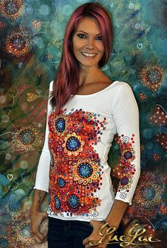 f4c5319b4b70 93 skvelých obrázkov z nástenky Nápady na maľovaný textil ...