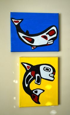 that artist woman: Inuit Whale Portraits, mixed media Classroom Art Projects, School Art Projects, Art Classroom, Arte Inuit, Inuit Art, Native Art, Native American Art, 4th Grade Art, Grade 2