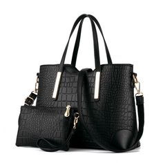 393922c032538 Fashion elegant shoulder bag classic trend Crocodile grain leather handbag  Messenger bag