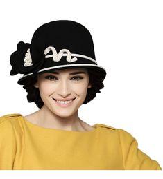 765cb5b4e36fe Women s Wool Felt Bowler Hat Black CX126NOCVYL